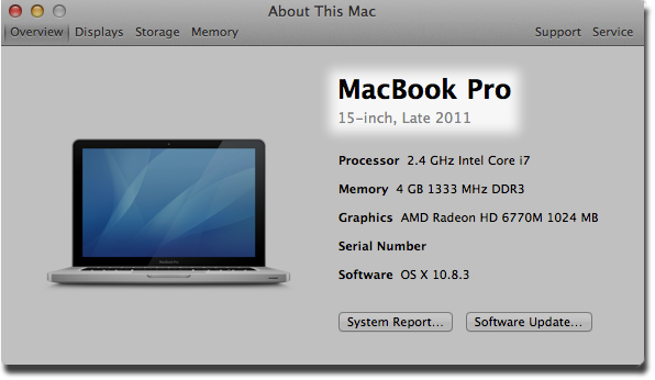 How to find my photos on macbook pro model number